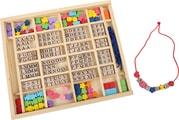 Písmenkové navlékací kostky v krabici