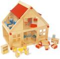 Dřevěný domek s nábytkem